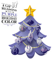 Use #PurpleHoliday on Twitter to share your reasons purple should be the new holiday color.