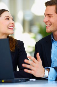 Marketo: Two Business People Shaking Hands