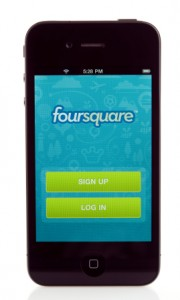 Four Square on a B2B Marketers Phone
