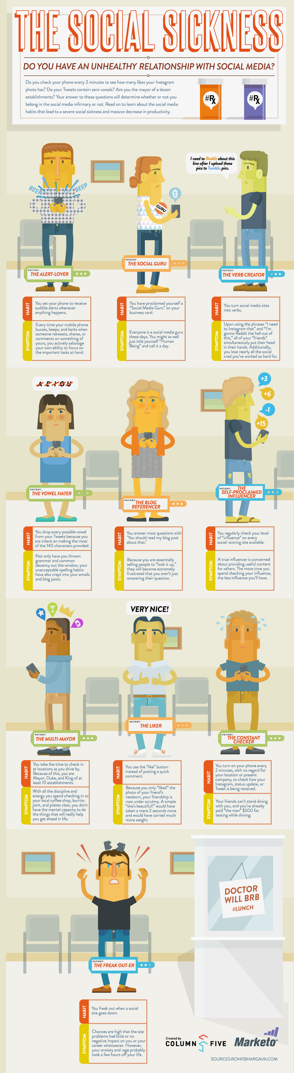 Social Addiction Infographic