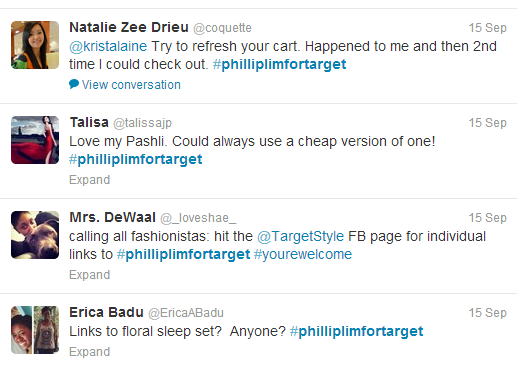phillip lim for target tweets 2