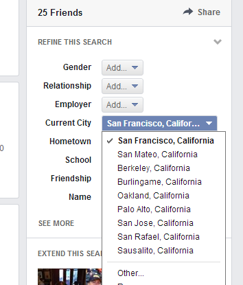 my friends in san francisco graph search