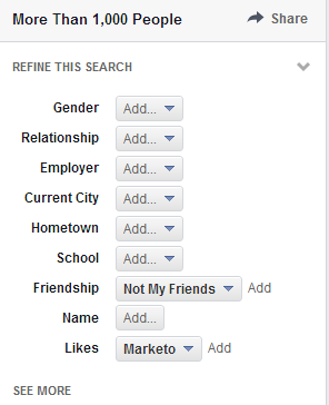 non-friends who like marketo