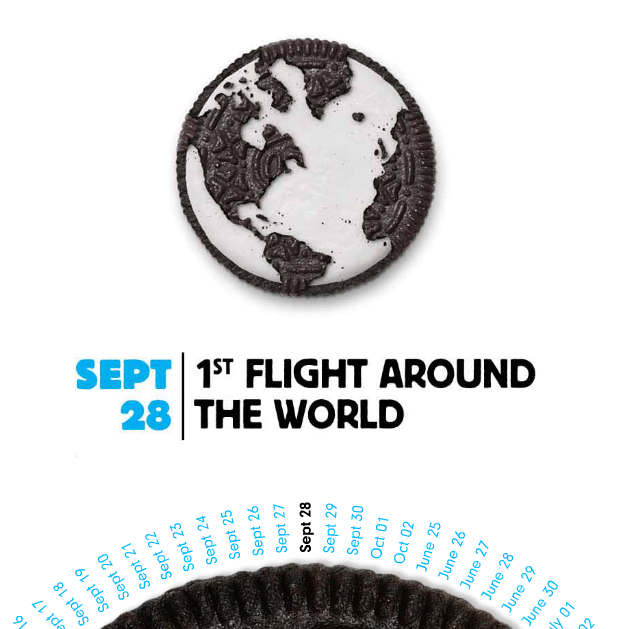 oreo flight around the world
