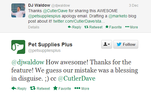 dj tweet pet supplies plus