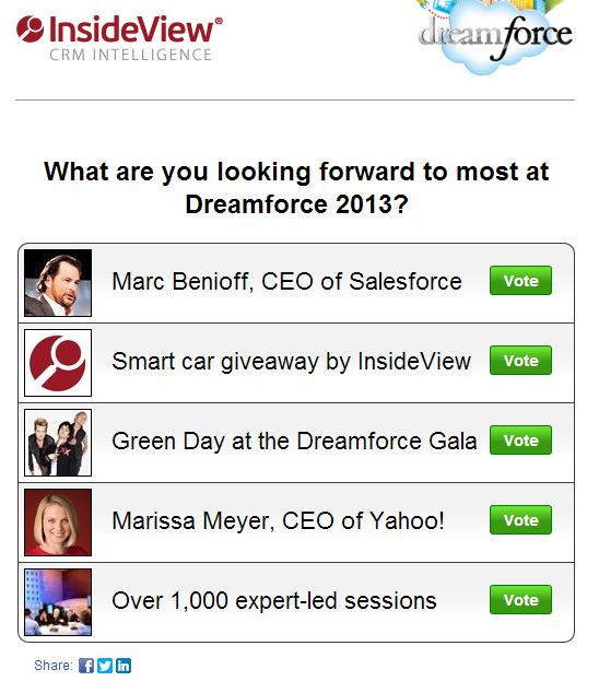 poll insideview dreamforce