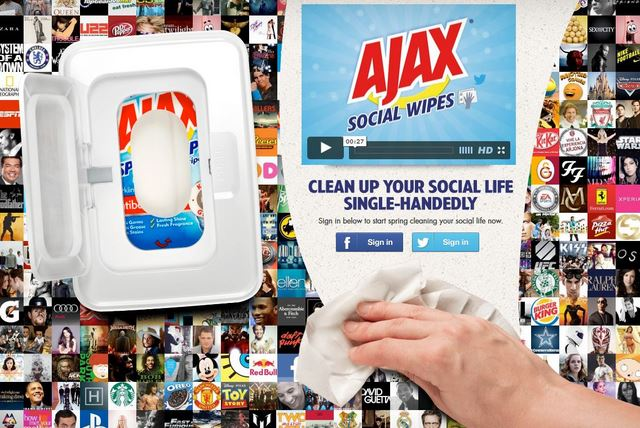 ajax social wipes