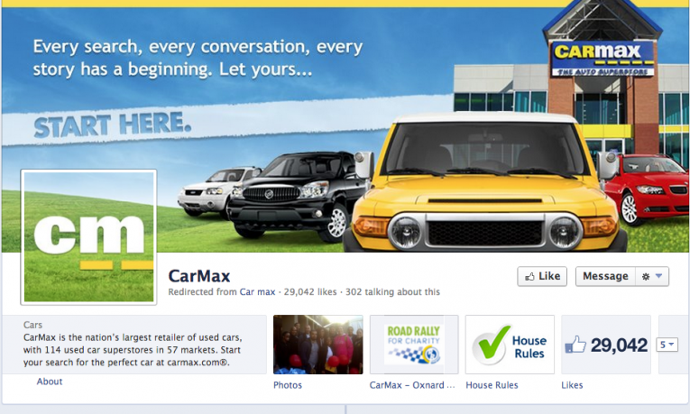 facebook cover image carmax