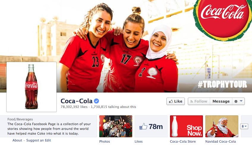 facebook cover image coca cola