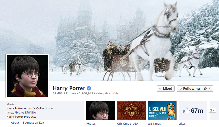 facebook cover image harry potter