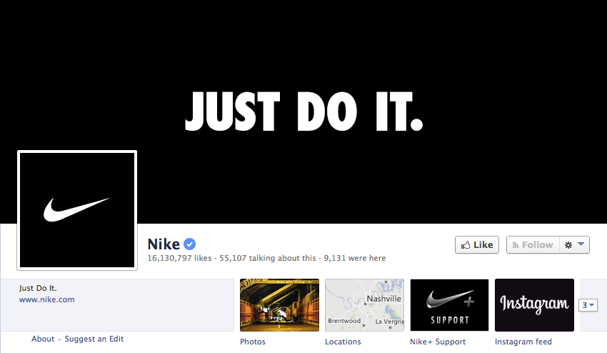 facebook cover image nike