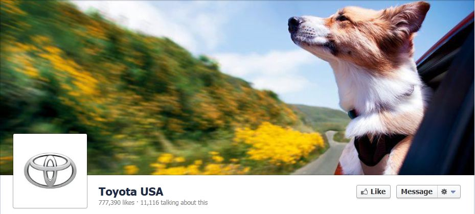 facebook cover image toyota