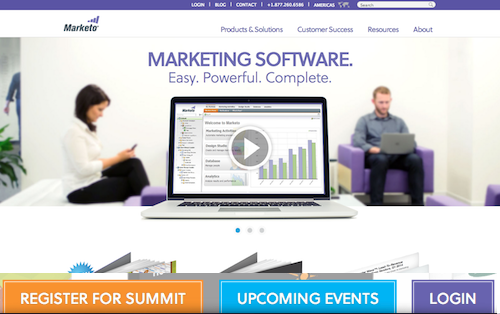 marketo homepage customers
