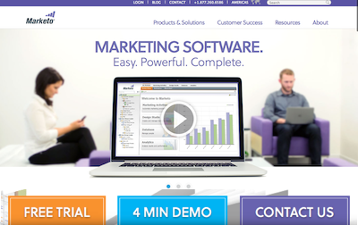 marketo homepage prospects