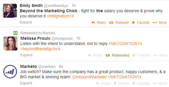 Beyond the Marketing Chick tweets