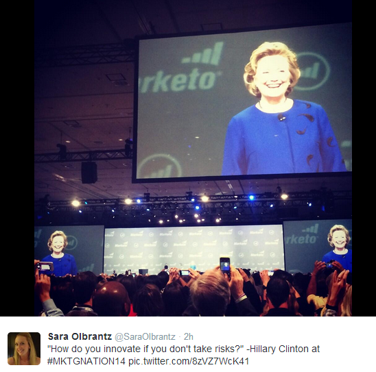 Hillary Clinton keynote Summit 2014