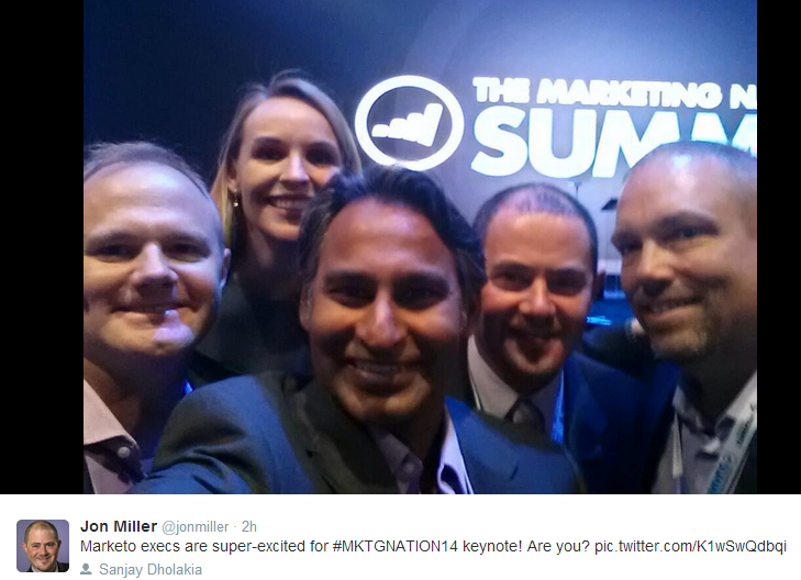 Marketo execs before keynote