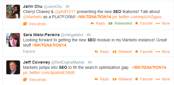 SEO keynote tweets