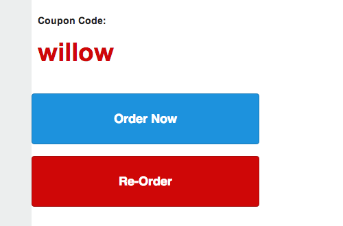 coupon code willow