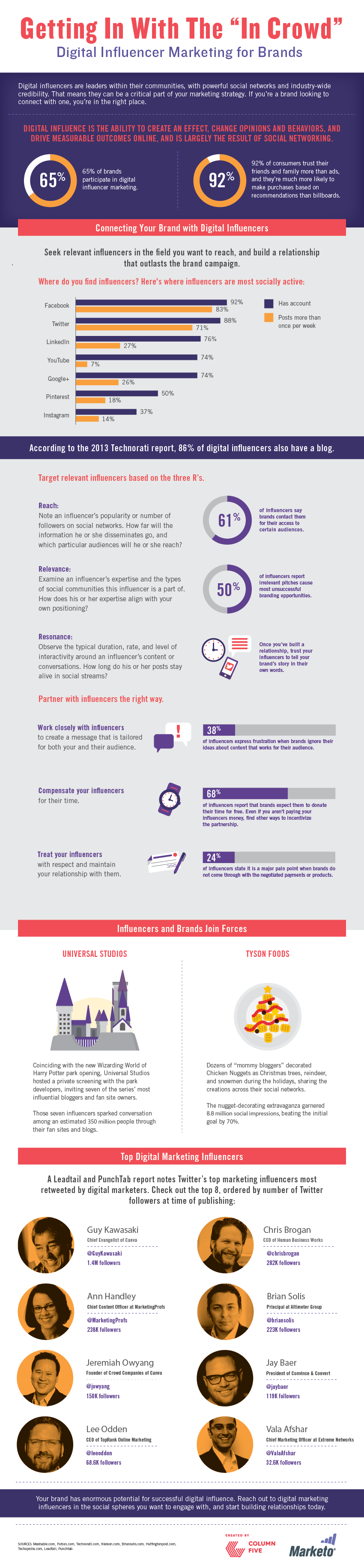 Digital Influencer Marketing for Brands Infographic