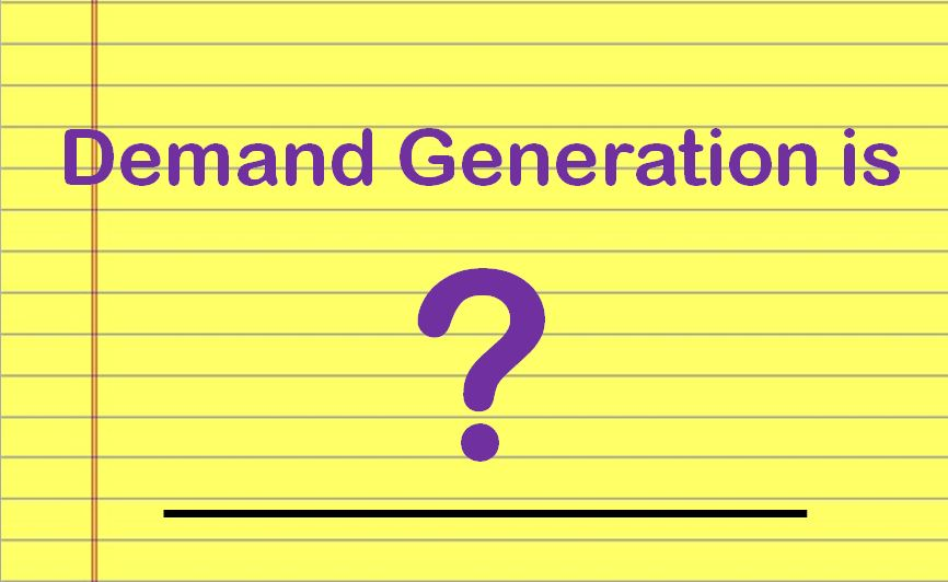 demand generation is blank