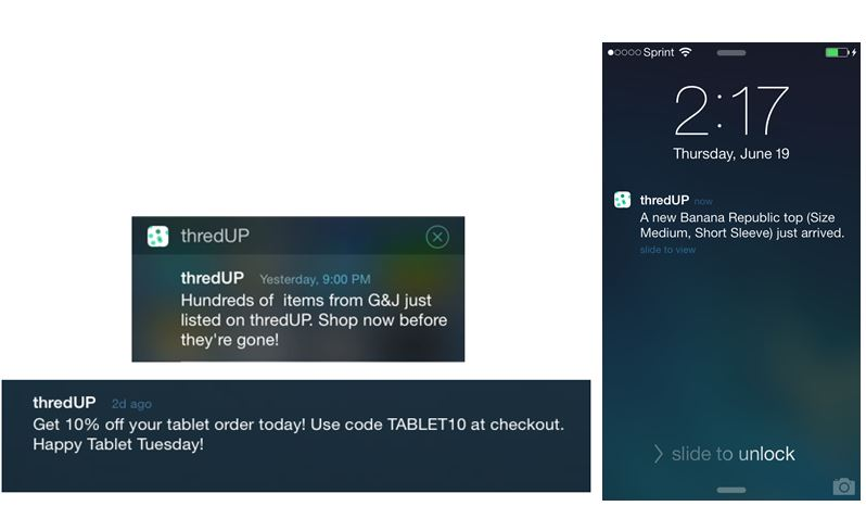 kahuna threadup push notifications