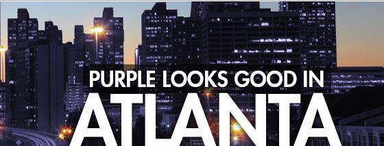 purple looks good in Atlanta