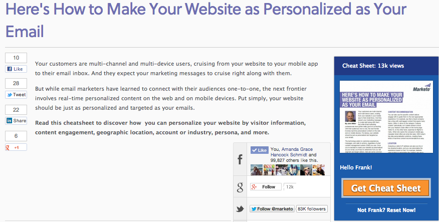 screenshot personalized email marketo