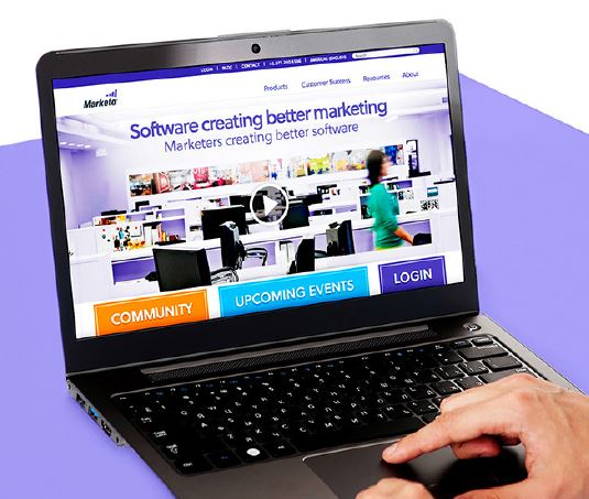 marketo personalized website homepage customers