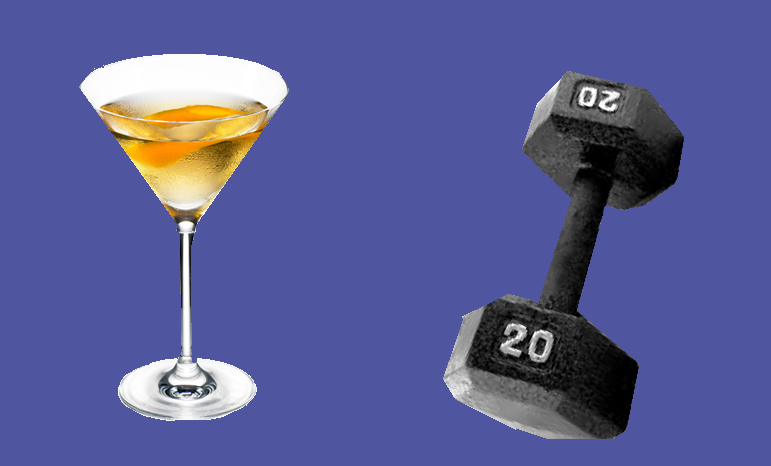 martini or dumbell