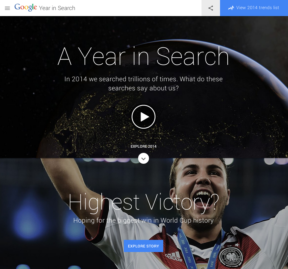 Google Year In Review