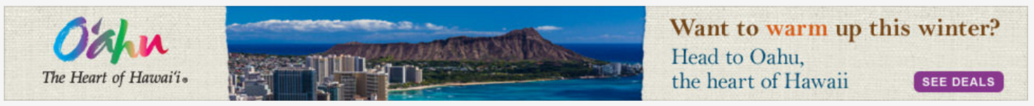 Expedia Oahu ad