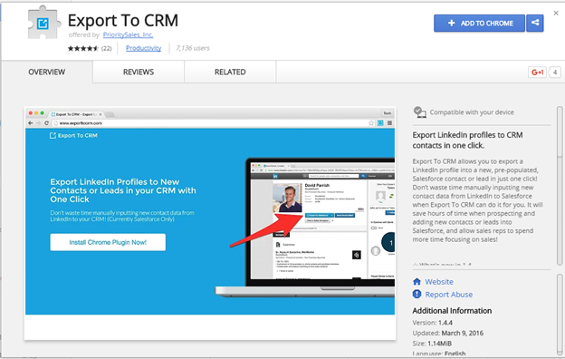 Export to CRM