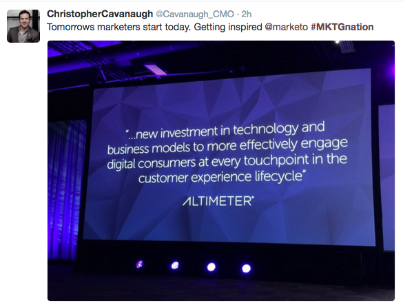 Marketo Marketing Nation Keynote Quote