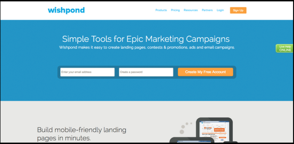 Wishpond Landing Page