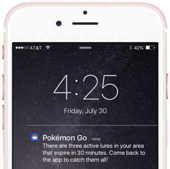 Pokemon Go Notification