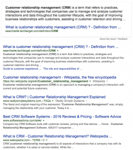 search results for CRM management