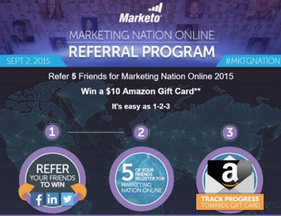 Marketo referral campaign