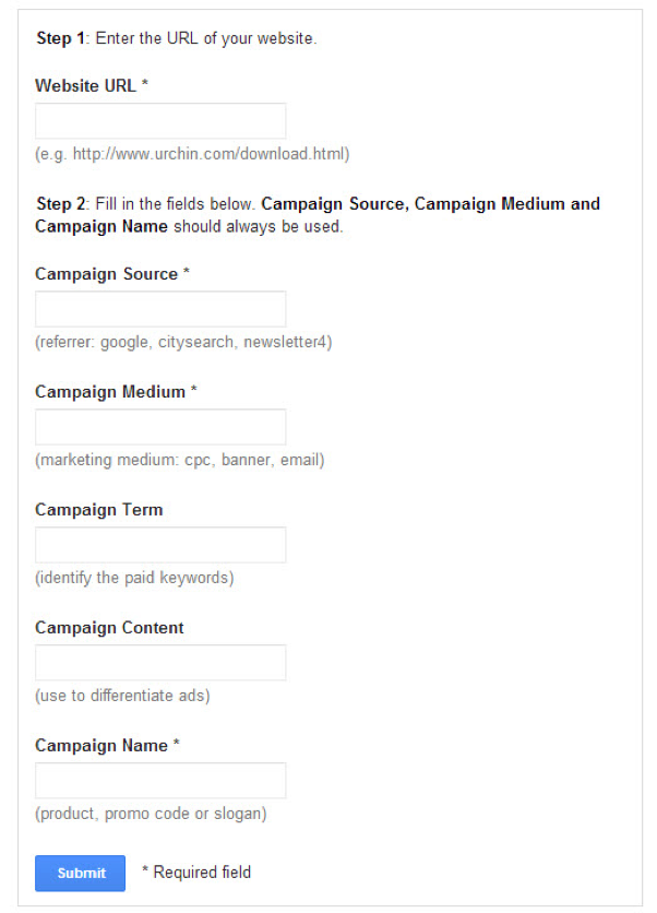 setting up manual URL tagging in Google Analytics