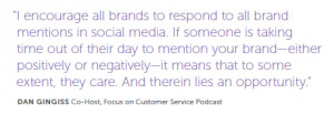 customer service on social media