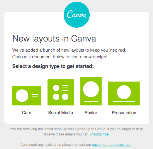 Canva Email Example