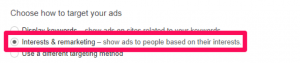 Choose how to target your ads