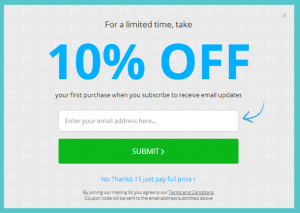 10 Percent Example Email