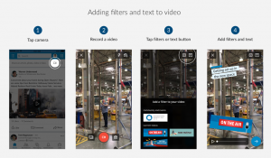 LinkedIn Filters and Text to Video Image