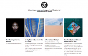 NYT Instagram example