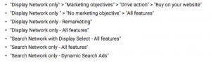 Google Ads PPC mistakes example