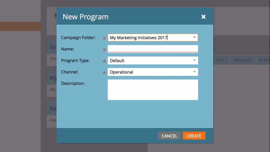 New Program Marketo Example