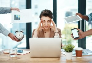 Marketer dealing with Productivity Killers
