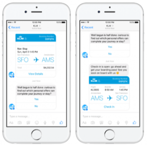 KLM Chatbot Example