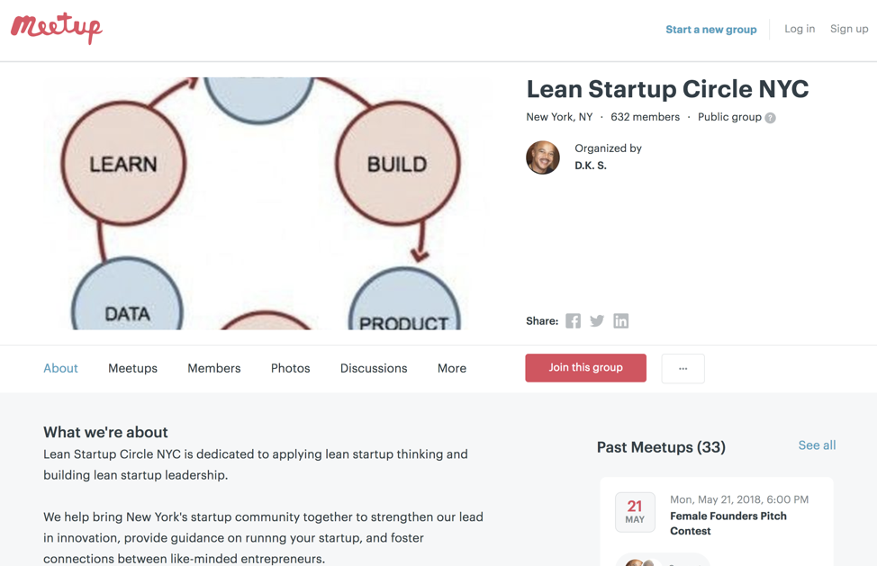 Lean Startup Circle NYC Example